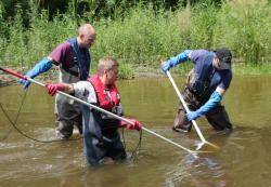 Drei-Mann-Fischerteam