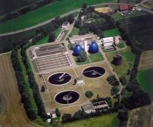 Luftbild Kläranlage Langwiese